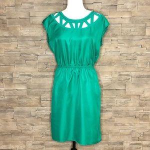 Banana Republic green cutout dress